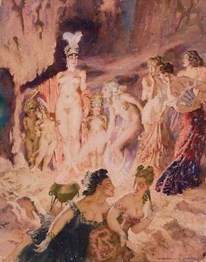 She Enters by NORMAN LINDSAY