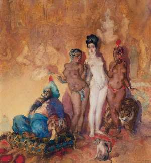 The Sultan is Indisposed by NORMAN LINDSAY