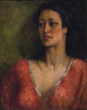 Rita in Red by NORMAN LINDSAY