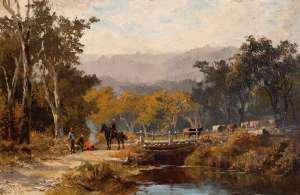 Resting Drovers by JAMES WALTHAM CURTIS