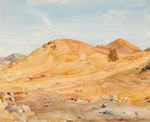 Sunparched Hills, Flinders Ranges by HANS HEYSEN