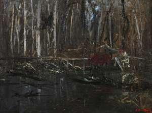 Figure Crossing a Bridge by ARTHUR BOYD