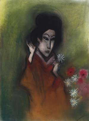 Geisha with Flowers by ROBERT DICKERSON