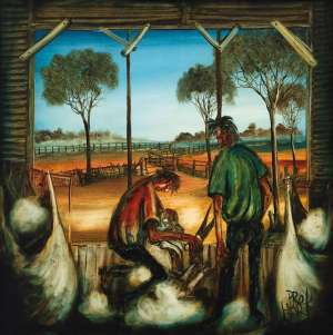 The Shearers by PRO HART