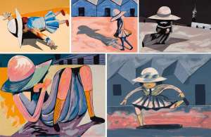 Blackman Schoolgirls by CHARLES BLACKMAN