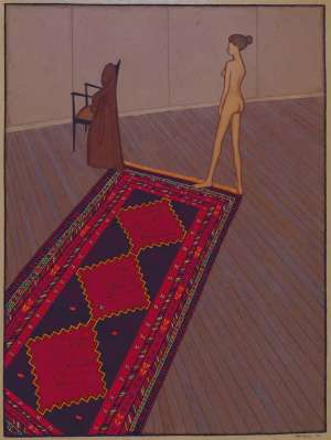 Nude in Profile (also known as Nude, Rug and Dressing Gown) by JOHN BRACK