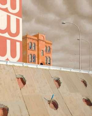 House by Hoarding by JEFFREY SMART