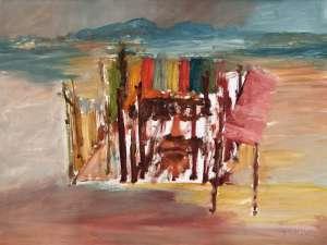 Kelly at Glenrowan by SIDNEY NOLAN