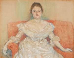 Portrait de Madeleine Maus by THEO VAN RYSSELBERGHE