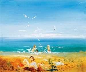 A Day on the Beach by DAVID BOYD