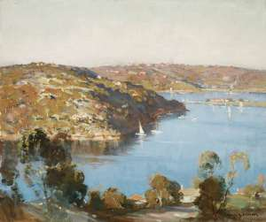 Castlecrag Looking towards The Spit by JAMES R. JACKSON