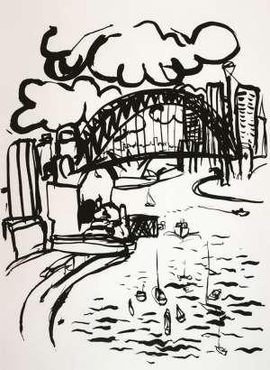Sydney Harbour by BRETT WHITELEY
