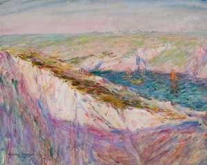 Cliffs at Goulphar Bay by JOHN PETER RUSSELL