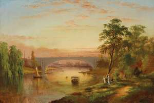 View of the Yarra with Prince's Bridge, Melbourne by J. H. CARSE
