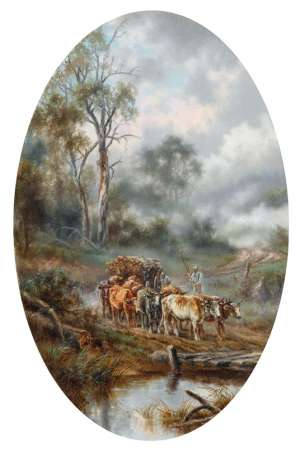 Hauling Logs by JAMES ALFRED TURNER