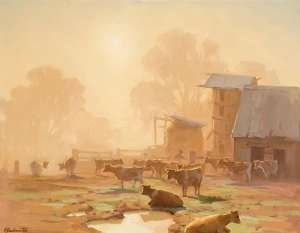 Untitled (Misty Morning) by ERNEST BUCKMASTER