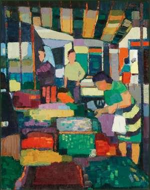 Street Market by JOHN RIGBY