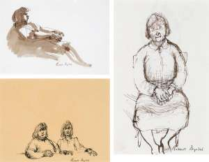 (i) Reclining Woman (ii) Seated Woman (iii) Two Women by RUSSELL DRYSDALE
