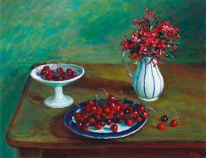 Cherries by MARGARET OLLEY