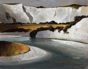 White Cliffs and Rangitikei River by PETER McINTYRE