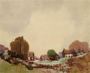 Landscape with Haystack by BLAMIRE YOUNG