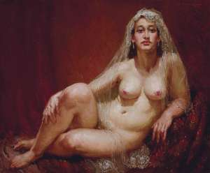 The Veil (Rita) by NORMAN LINDSAY