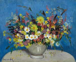 Bowl with Wildflowers by ETHEL CARRICK FOX