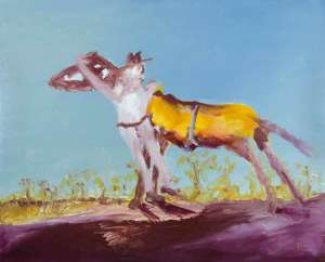 Half-caste and Horse by SIDNEY NOLAN