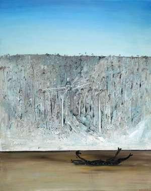 Aeroplane, Riverbank and Carcass by ARTHUR BOYD