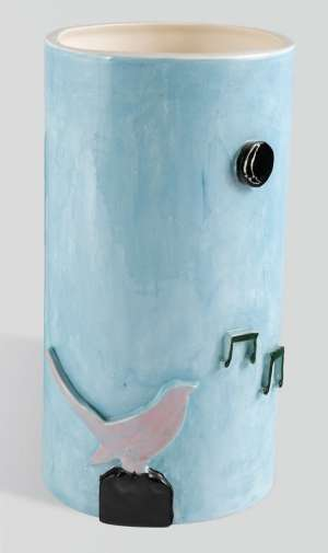 Vase with Musical Notes by NOEL McKENNA