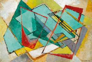 Untitled (Geometric Abstract) by FRANK HINDER