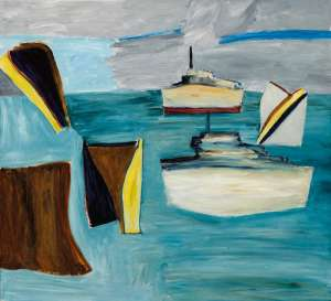 View from my Window 8 or 9 (Ships and Shapes) by KEN WHISSON