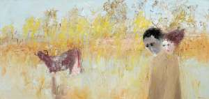 Potter and Wife in a Field with Cow by ARTHUR BOYD