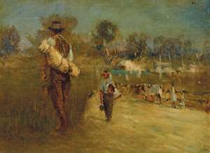 Sketch on the Plenty River by WALTER WITHERS