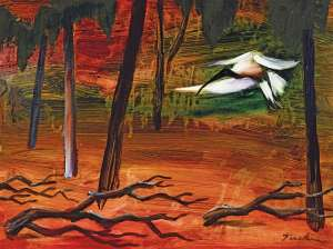 Ibis in the Swamp by ALBERT TUCKER