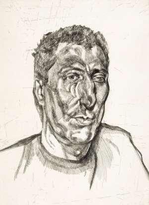 Head of Ali by LUCIAN FREUD