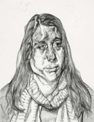 Portrait Head by LUCIAN FREUD