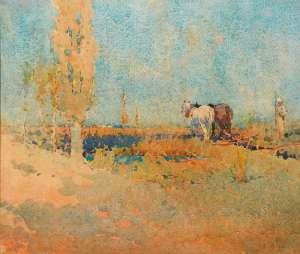 Ploughing by J.J. HILDER