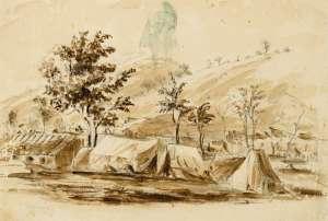 The Mining Camp by THOMAS BALCOMBE