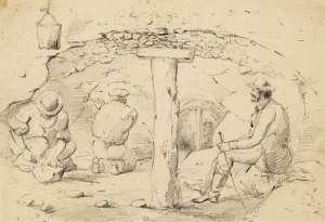 Study of Three Men in a Mine by THOMAS BALCOMBE