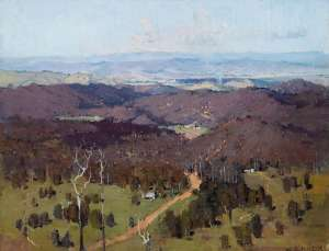 Summer Landscape (View from Arthur's Seat) by W.D. KNOX
