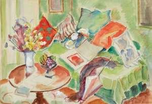 Still Life Interior Scene by JOHN PETER RUSSELL