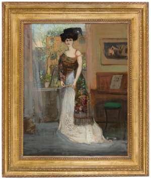 The Spanish Shawl (Portrait of Annie Cecil Lawson) by CHARLES CONDER