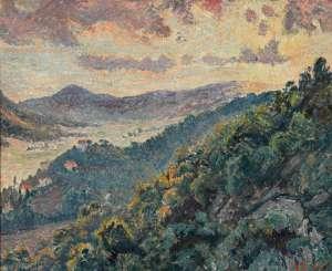 Soleil Couchant, Bormes (Mont des Roses) by LUCIEN PISSARRO