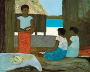Islanders with Fruit by RAY CROOKE