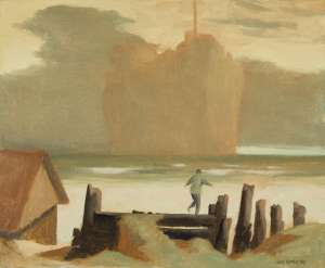 Study for Boy Looking at a Ship by RICK AMOR