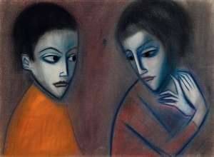 Untitled (Two Figures) by ROBERT DICKERSON