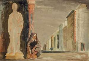 San Giorgio e la Vecchia (St George and the Beggar Woman) by JEFFREY SMART