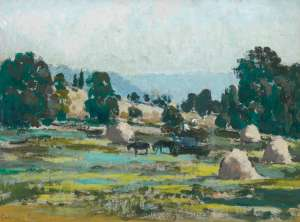 Haystacks by ETHEL CARRICK FOX
