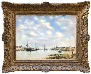 La Meuse devant Dordrecht (The Meuse near Dordrecht) by EUGÈNE BOUDIN